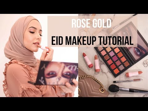 ROSE GOLD EID MAKEUP TUTORIAL | With Love, Leena