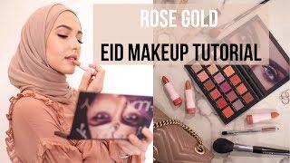 ROSE GOLD EID MAKEUP TUTORIAL | With Love, Leena