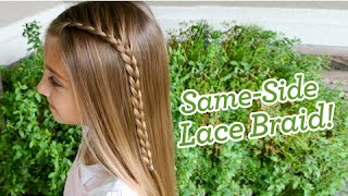 same side lace braid   popular hairstyles   cute girls hairstyles