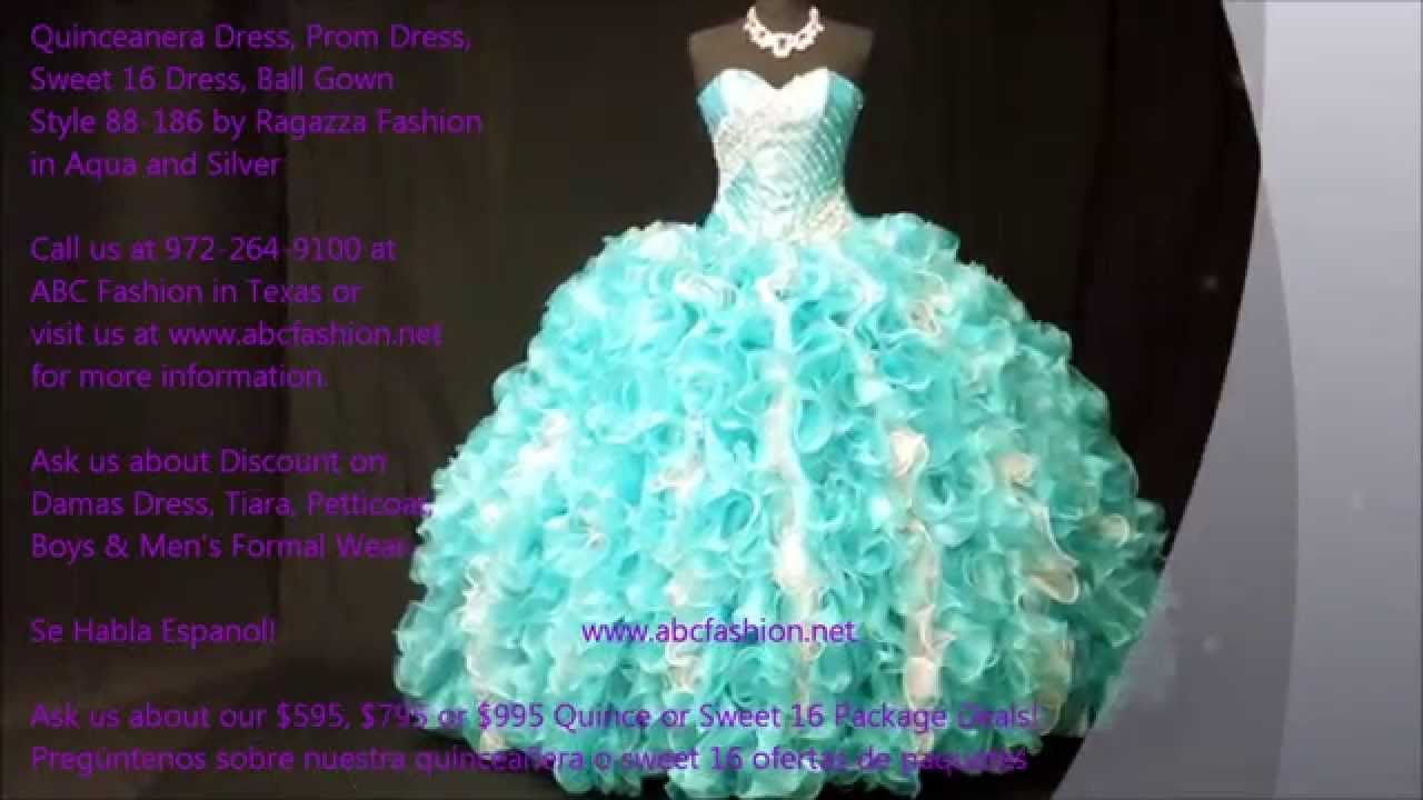 88-186 Ragazza Fashion Aqua Quinceanera Dress, Sweet 16 Dress, Ball ...