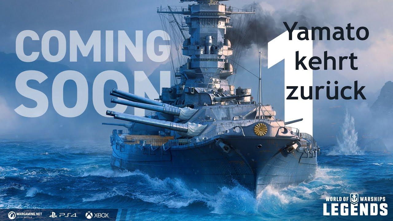 World of Warships Legends Yamato kehrt zurück - YouTube