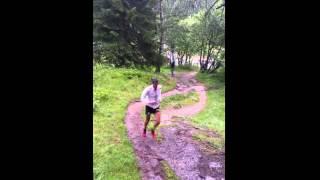 Kilian Jornet - Marathon du Mont Blanc 2014 - Attaque au pied de la Flégère (km 29)