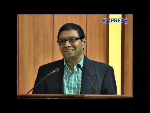 Dr Jayram Chigurupati at University of Hyderabad Allumni Meet 2015 | Express TV