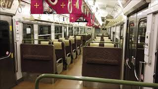JR草津線 113系 柘植駅到着の車内 JR Kusatsu Line (2020.2)