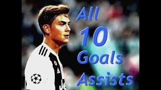 Paulo Dybala ● All 10 Goals & Assists so far ● 2018/19 HD