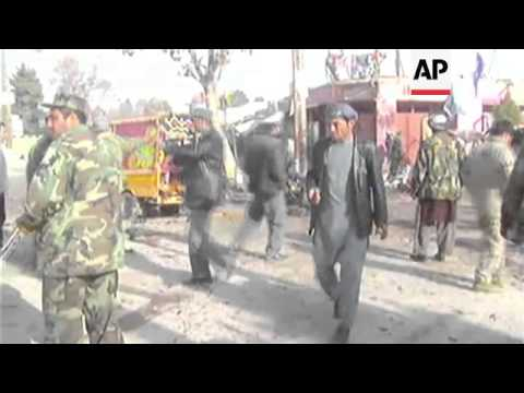 Suicide bomber in rickshaw kills at least 15 civilians, aftermath
