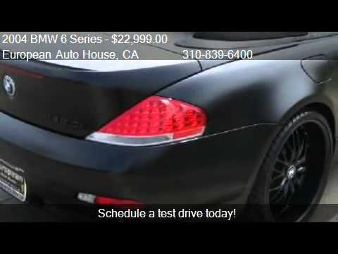 BMW Series Ci Convertible For Sale In Los Angeles YouTube - 2004 bmw 645ci convertible for sale