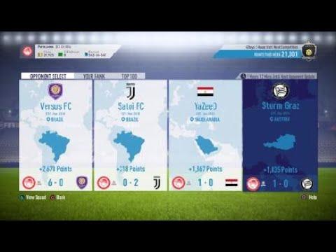 FIFA 18 FUT - Squad Battles 25 - Porto Leone vs Icons... (Legendary)