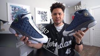 Flint Air Jordan 13 Real Vs Fake
