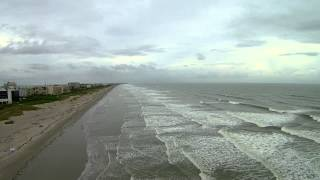 Over Cocoa Beach Florida on a Rainy Day by Drone Yuneec Q500 Video