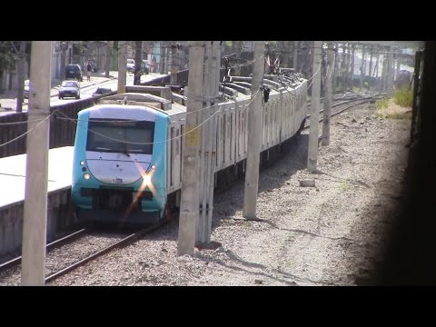 Supervia Electric commuter train in Rio de Janeiro, Brazil