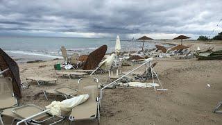 Mortal tornado azota Grecia en plena temporada turística | AFP