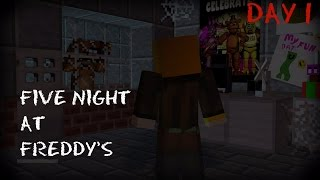 Five Nights at Freddy's | We picked the wrong job... | FNAF Minecraft Roleplay Day 1
