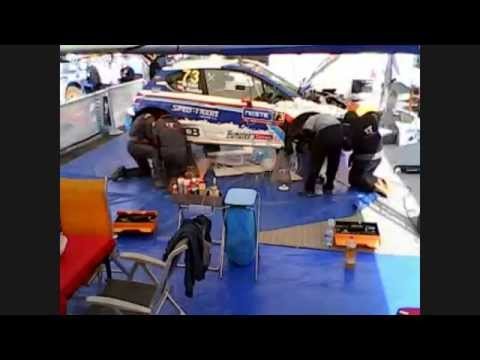 Finland rally Service Park Peugeot Sport Slovakia