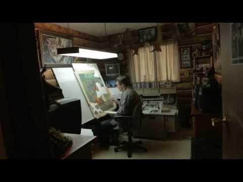 See An Amazing Artist Paint In His Creative Studio