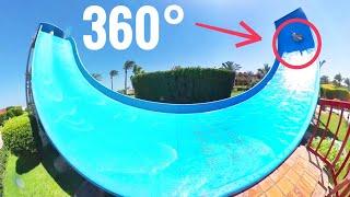 360° video 😝 Infinity Pool Waterslide coaster 360 VR Virtual Reality Aqua Park