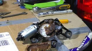 Авто. Ремонт мотора стеклоочистителя.