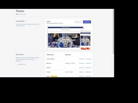 Backup Your Shopify Theme Setting Code and Images Tutorial 2018