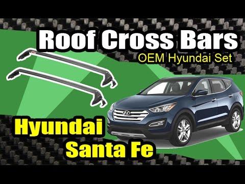 2013 Hyundai Santa Fe Oem Roof Cross Bars Install Youtube