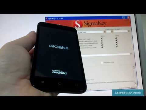Alcatel TETRA (5041C) unlock with Sigma - YouTube