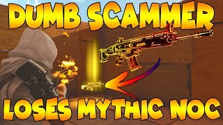 Dumb Scammer Loses Mythic Nocturno! (Scammer Gets Scammed) Fortnite Save The World