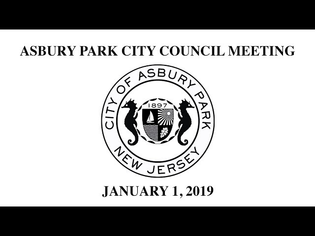 Asbury Park City Council Reorganizational Meeting  - Janurary 1, 2019