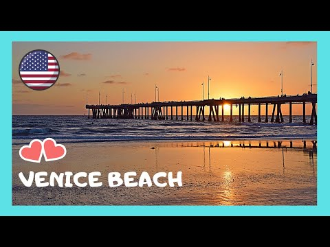 Famous Venice Beach In California Walking On The Pier Wharf Usa