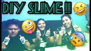 **!DIY Slime with my sisters gone wrong!!**