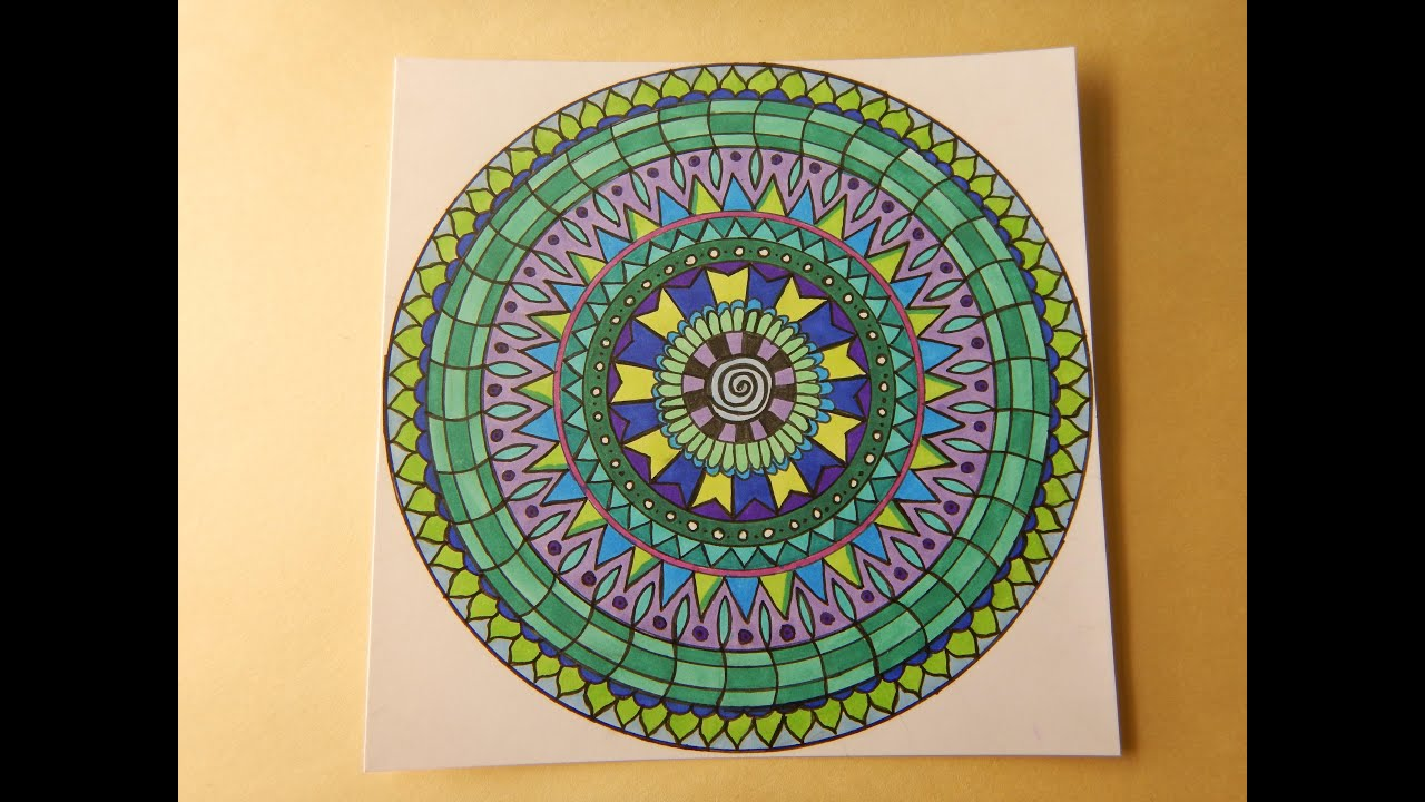 Mandala Doodle With Color Zentangle Style Time Lapse