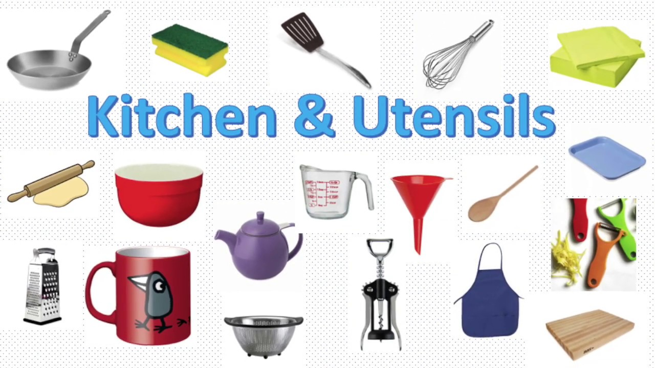 English vocabulary - Kitchen Vocabulary - Things in the Kitchen | Utensils  vocabulary | For Kids