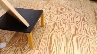 作業台の天板リメイク方法、すっぽり被せるメラミン化粧板天板 thumbnail