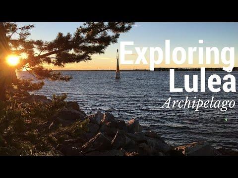 Exploring Lulea archipelago in Swedish summer Lapland