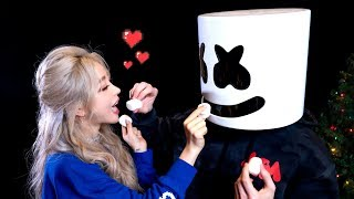 Marshmallow Hacks With Wengie and Marshmello! 10 Easy Holiday DIY Food Treats