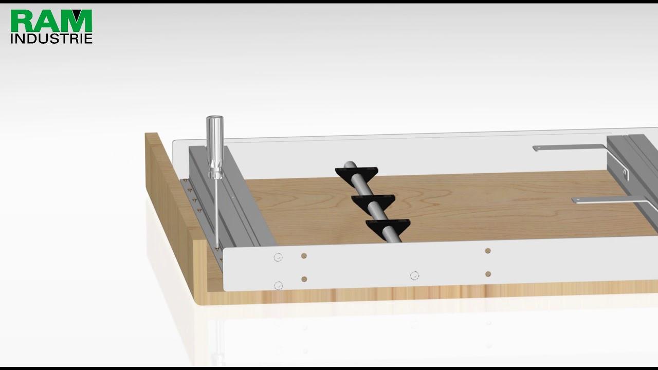 Sistema Per Tavolo Allungabile.Telaio Per Tavolo Allungabile Ram Industrie Youtube