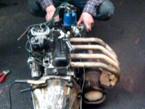 motore 112 abarth montato sotto fiat 850  YouTube