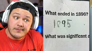 Funniest Test Answers - Reaction