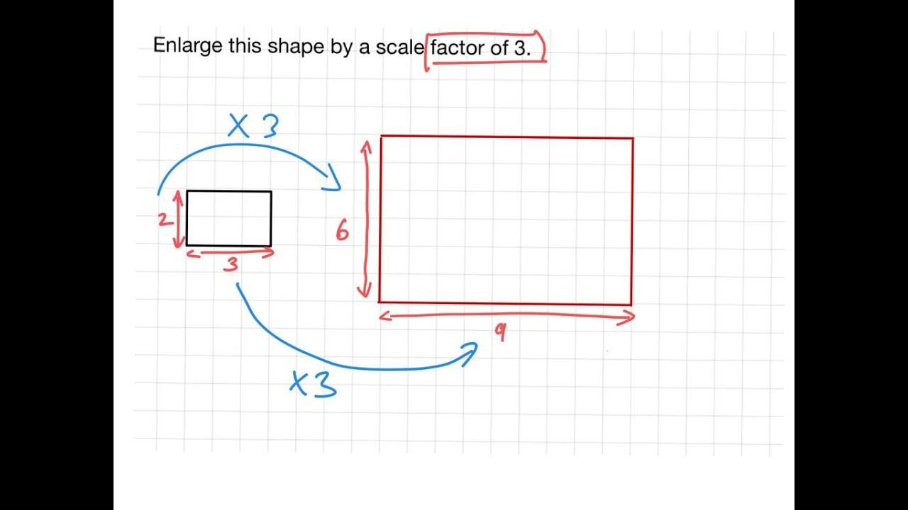 scale factor enlargement ks2 maths youtube. Black Bedroom Furniture Sets. Home Design Ideas