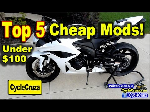 Top 5 CHEAP Mods for Motorcycle Under $100 | MotoVlog