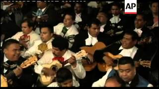 Mariachis celebrate on the eve of patron saint of music day
