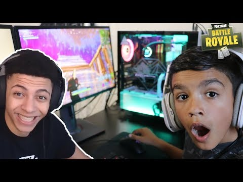 My 10 Year Old Little Brother Builds Like MYTH On Fortnite!