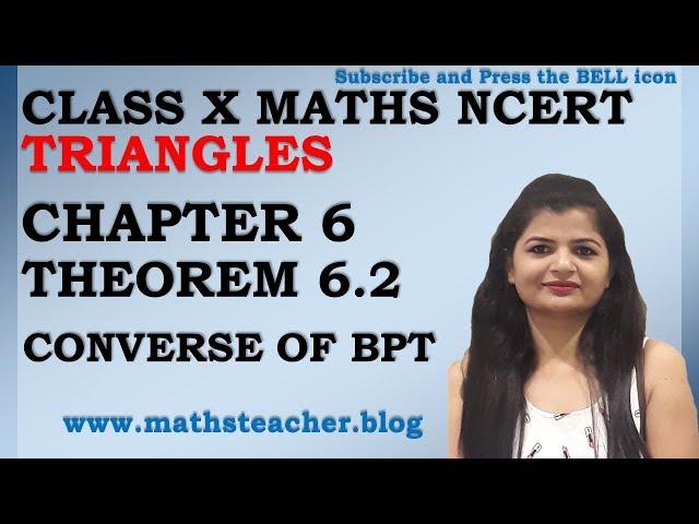 Chapter 6 Triangles Theorem 6.2 Class 10 Maths NCERT