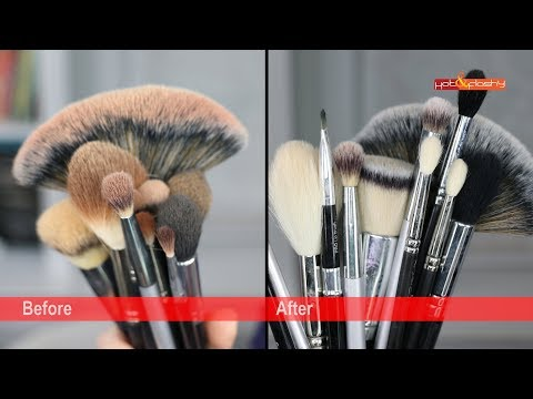 How To: Clean Makeup Brushes + Sponges