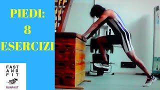 PIEDI: 8 ESERCIZI per piedi forti, reattivi e veloci! ( Corri veloce come Usain BOLT!)