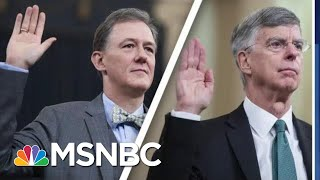 Impeachment Day 1: Bricks Of Bribery Evidence Pile Up Against Trump | MSNBC