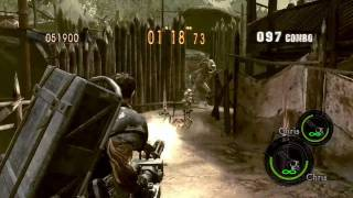 Resident Evil 5 Mercenaries Reunion - Village - 573k SS Rank - Chris Heavy Metal Duo