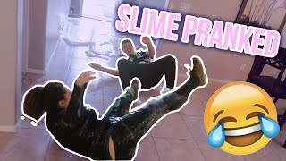 DUMPING SLIME ON SISTER PRANK | MoreAmeerah