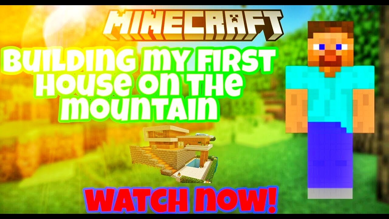 |Minecraft|Building my first house on the mountain|