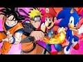 Goku Vs Naruto Vs Super Mario Vs Sonic Epico   Super Smash Flash 2 video