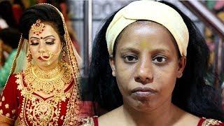 Sawli Ladki Pr Bridal Makeup in Budget | Prabha Makeover #darkmakeu...
