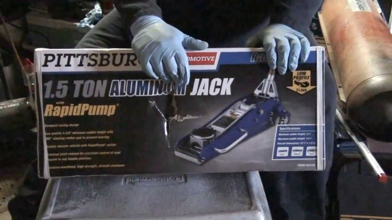 Harbor Freight 1 5 Ton Aluminum Racing Jack Youtube